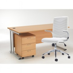 Office Chair Pedestal High Replacement Cover Canada Tc Lite 1600mm Desk And Baresi Bundle