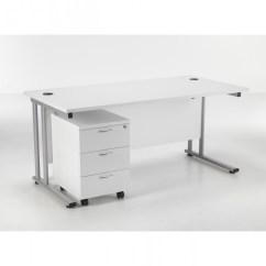 Office Chair Pedestal White Tc Lite 1600mm Desk And Baresi Bundle