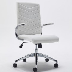White Leather Office Chair Uk Metal Tube Chairs Tc Baresi Managers Ch0789wh