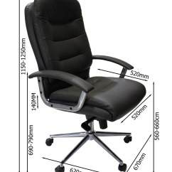 Office Chair Dimensions Rolling Chairs For Alphason Empire Executive Aoc8218blk 121
