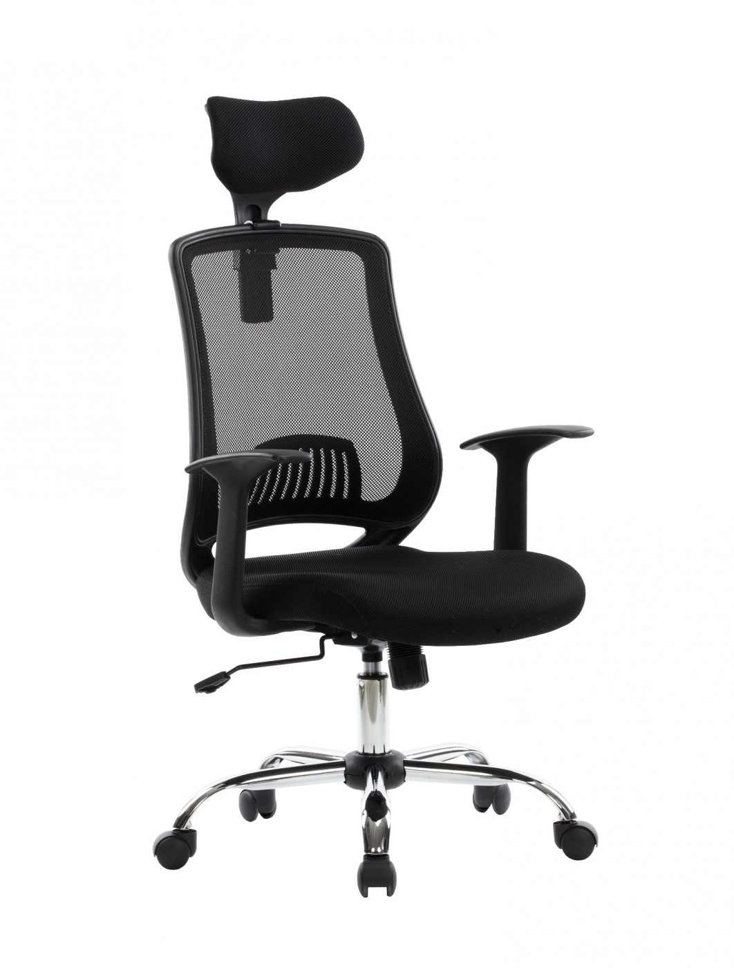 executive mesh office chair fabric recliner chairs alphason florida high back aoc4125blk enlarged view