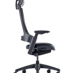 Office Chair With Headrest Stainless Steel Outdoor Table And Chairs Molet Task Exec Mesh Kc0277 121 Back Enlarged View
