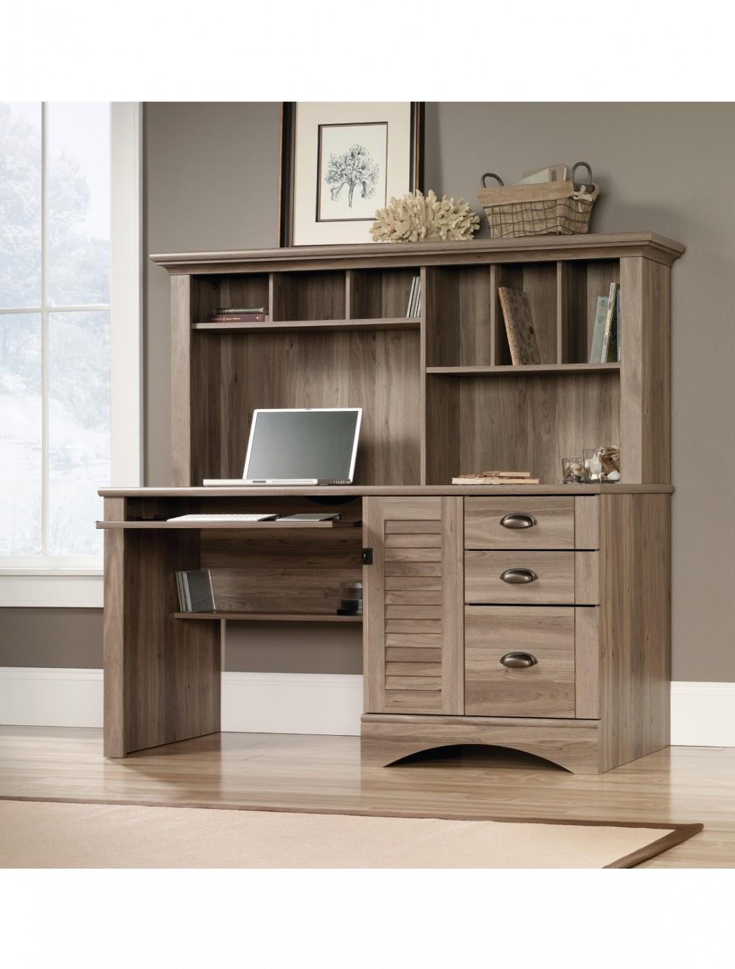 Home Office Desks  Teknik Louvre Hutch Office Desk