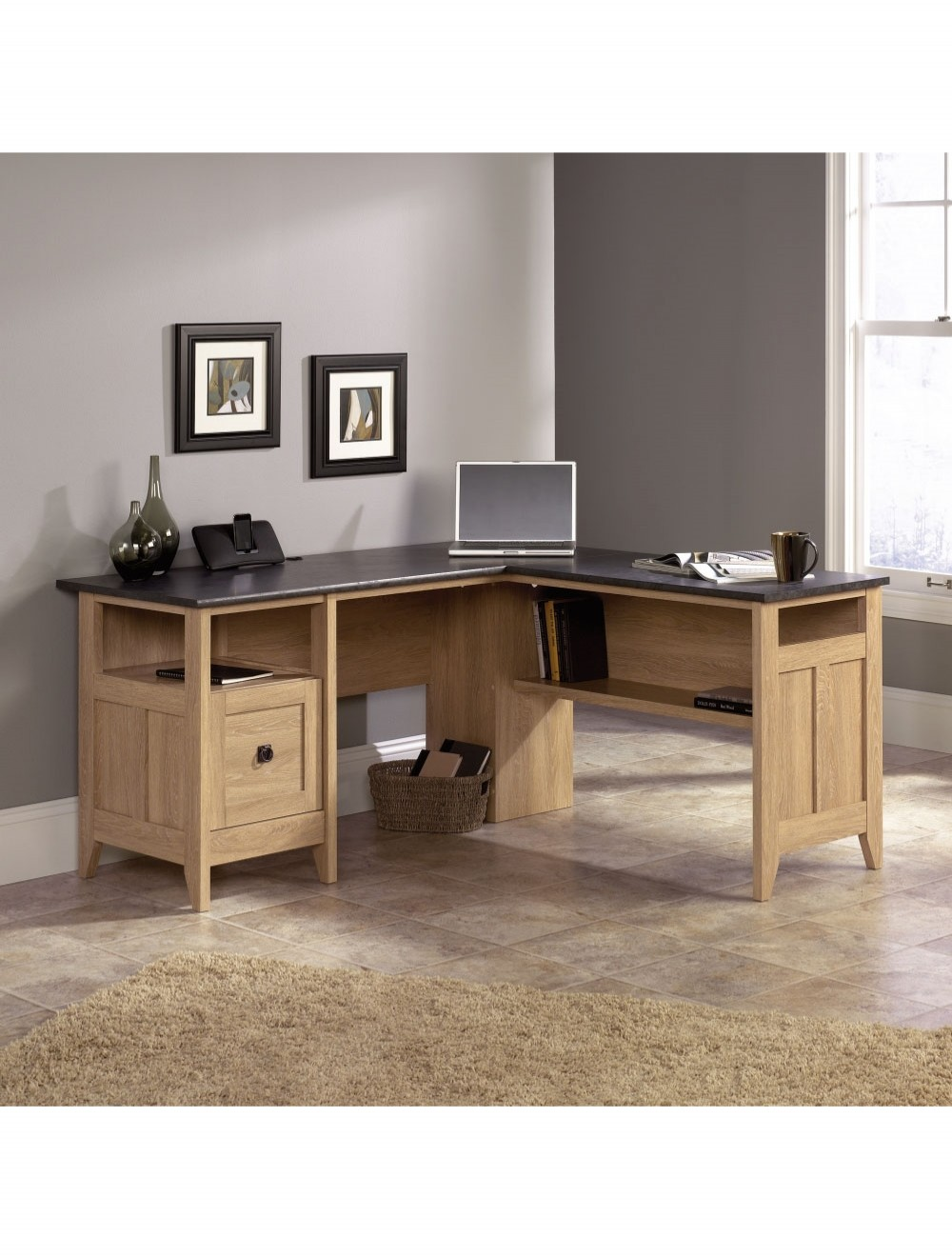 Home Office Desks  Teknik LShaped Study Desk 5412320