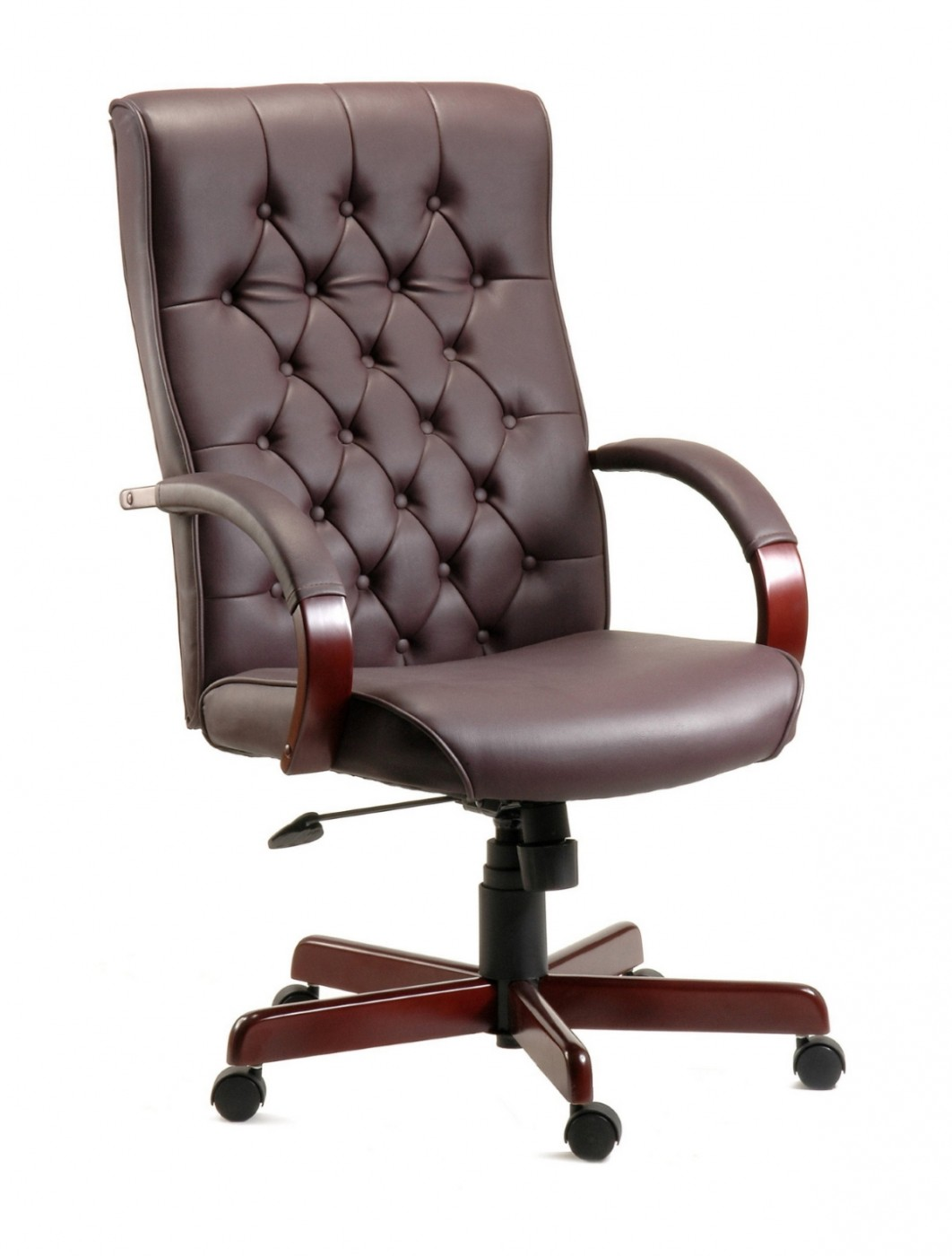 Office Chairs  Warwick Traditional Exec Leather Chair