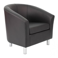 Leather Tub Chair Armless Desk Armchair Pu Of2201ml Reception Chairs 121 Enlarged View