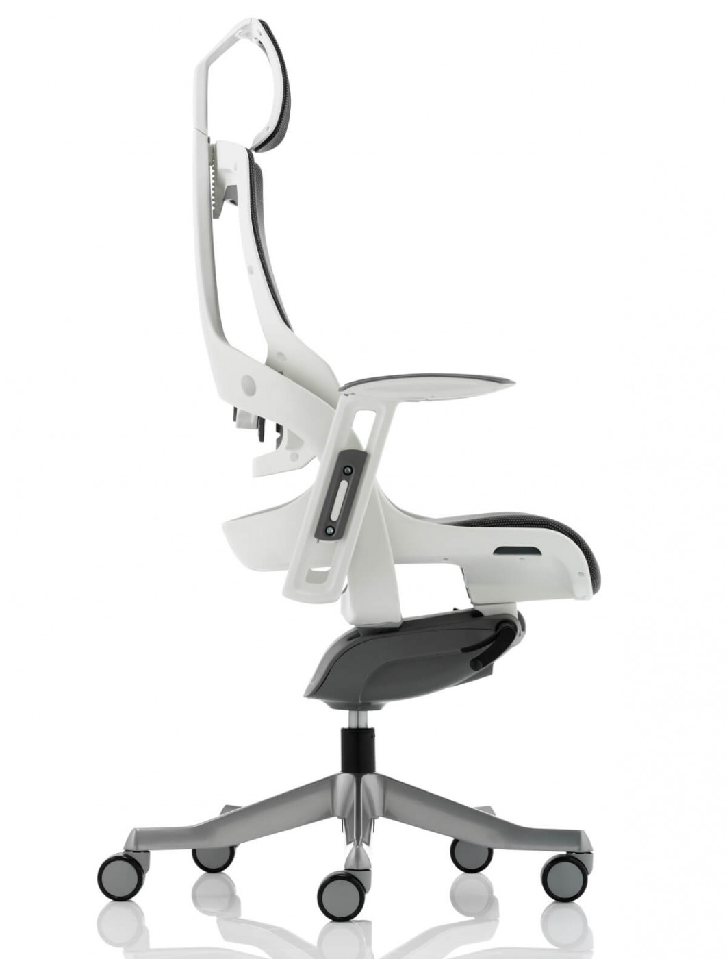 executive mesh office chair sciatic nerve cushion zure fabric with headrest kc0162 121 charcoal w enlarged view