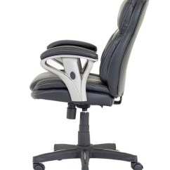 Black Leather Desk Chairs Teak Lounge Office Photon Chair Pn02 121 Enlarged View