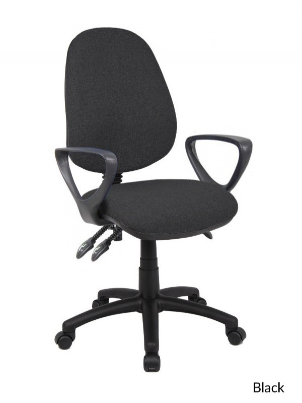 office chair adjustment levers lazy boy recliner covers australia operator v201 vantage 121 furniture 3 lever with fixed arms enlarged view