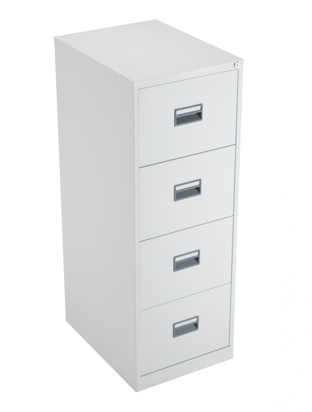 TC Talos 4 Drawer Steel Filing Cabinet TCS4FCWH in White