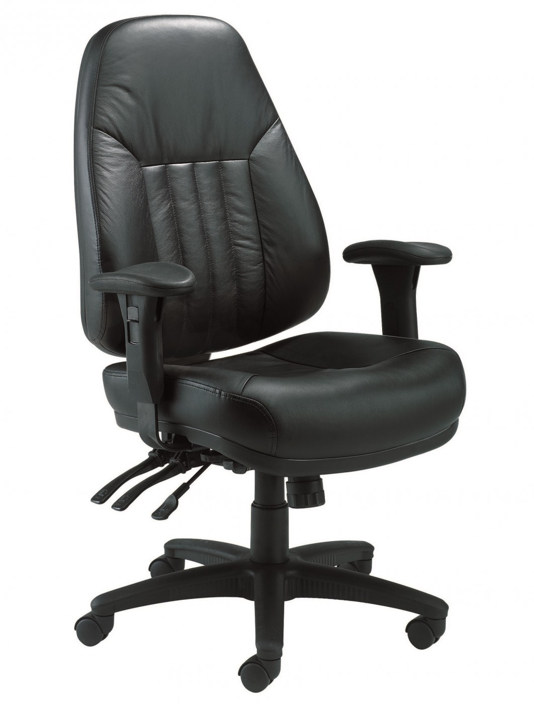 black leather desk chairs golden tech office tc panther chair