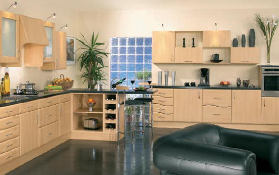Beech kitchen door finish Any size made to measure kitchen doors and bedroom doors