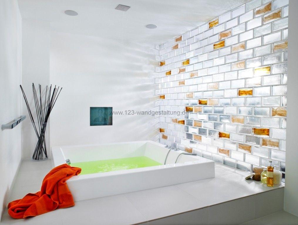 Glasbausteine  Kreative Glaswnde und Rckwnde als