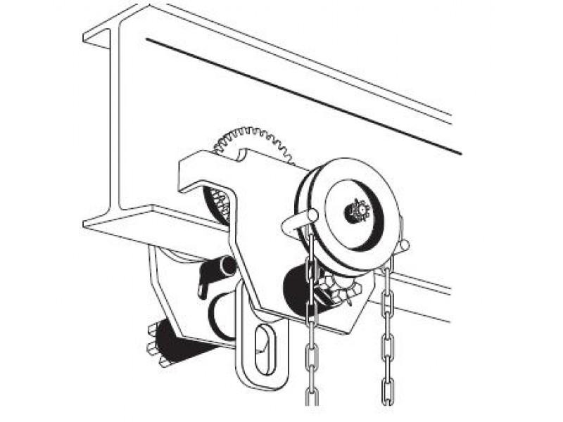 Chain hoist trolley, 10 t