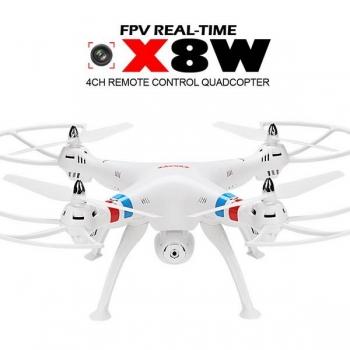 Syma X8W Drone WiFi Real-time FPV RC Quadcopter 4CH 6Axis Gyro 2.4G 2MP Camera White EU Plug