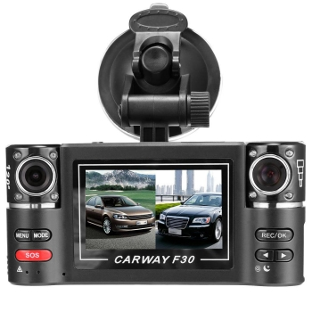 2.7inch Dual Lens Car Vehicle 5MP HD Dash Camera