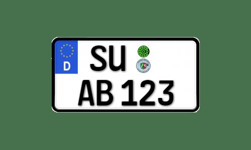 Deutsches Euro Kennzeichen für Leichtkraftfahrzeuge 255mm