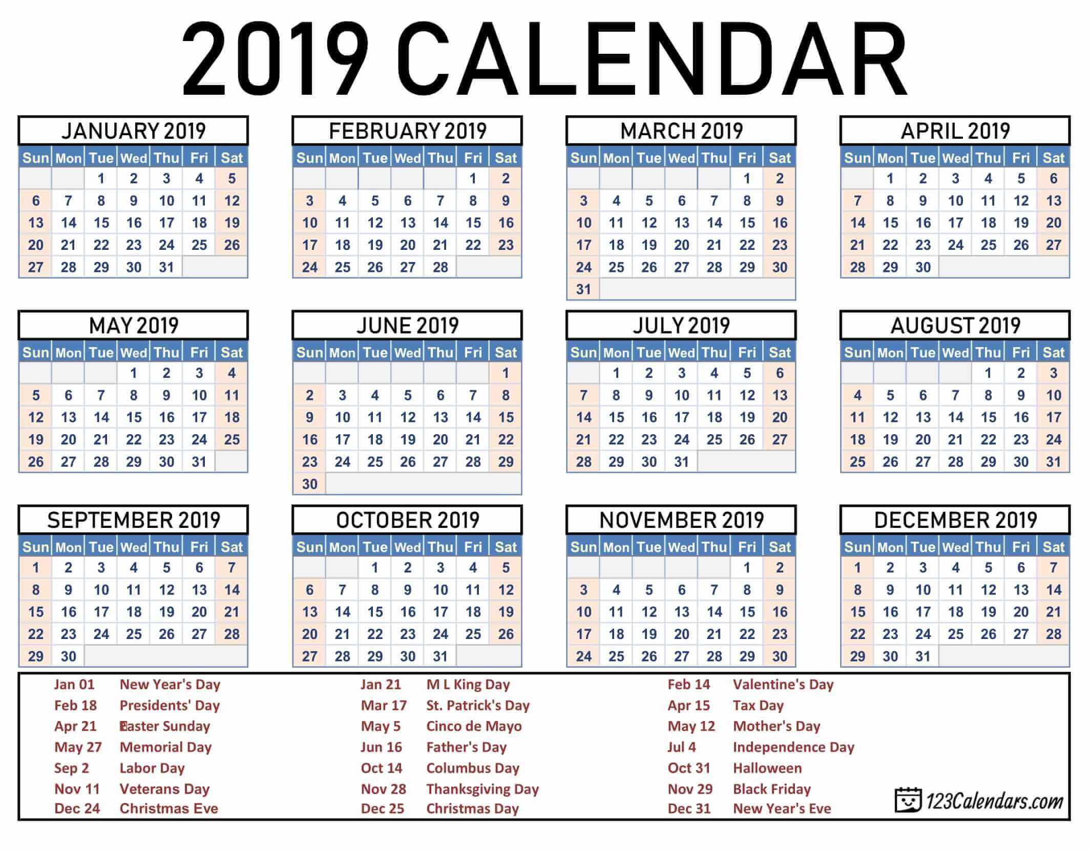 Free Printable Calendar | 123Calendars.com