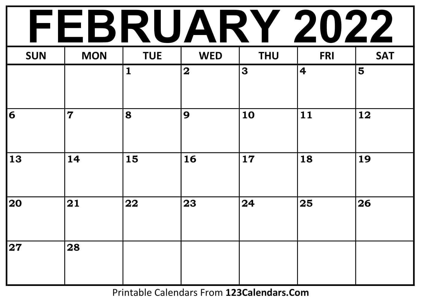 Printable February 2021 Calendar Templates | 123Calendars.com