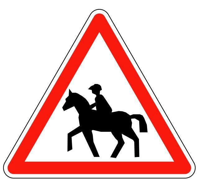 Panneau passage de cavaliers