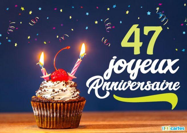 16 cartes joyeux anniversaire ge 47 ans gratuits 123 - Dessin gateau anniversaire 50 ans ...