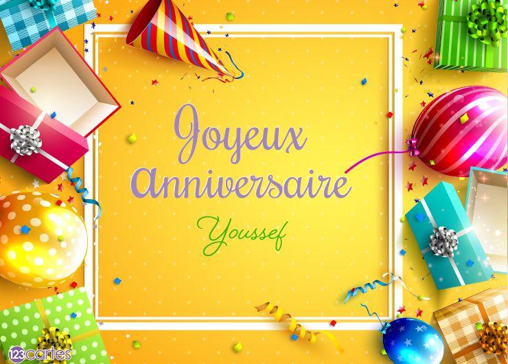 10 Cartes Anniversaire Avec Le Prénom Youssef 123cartes