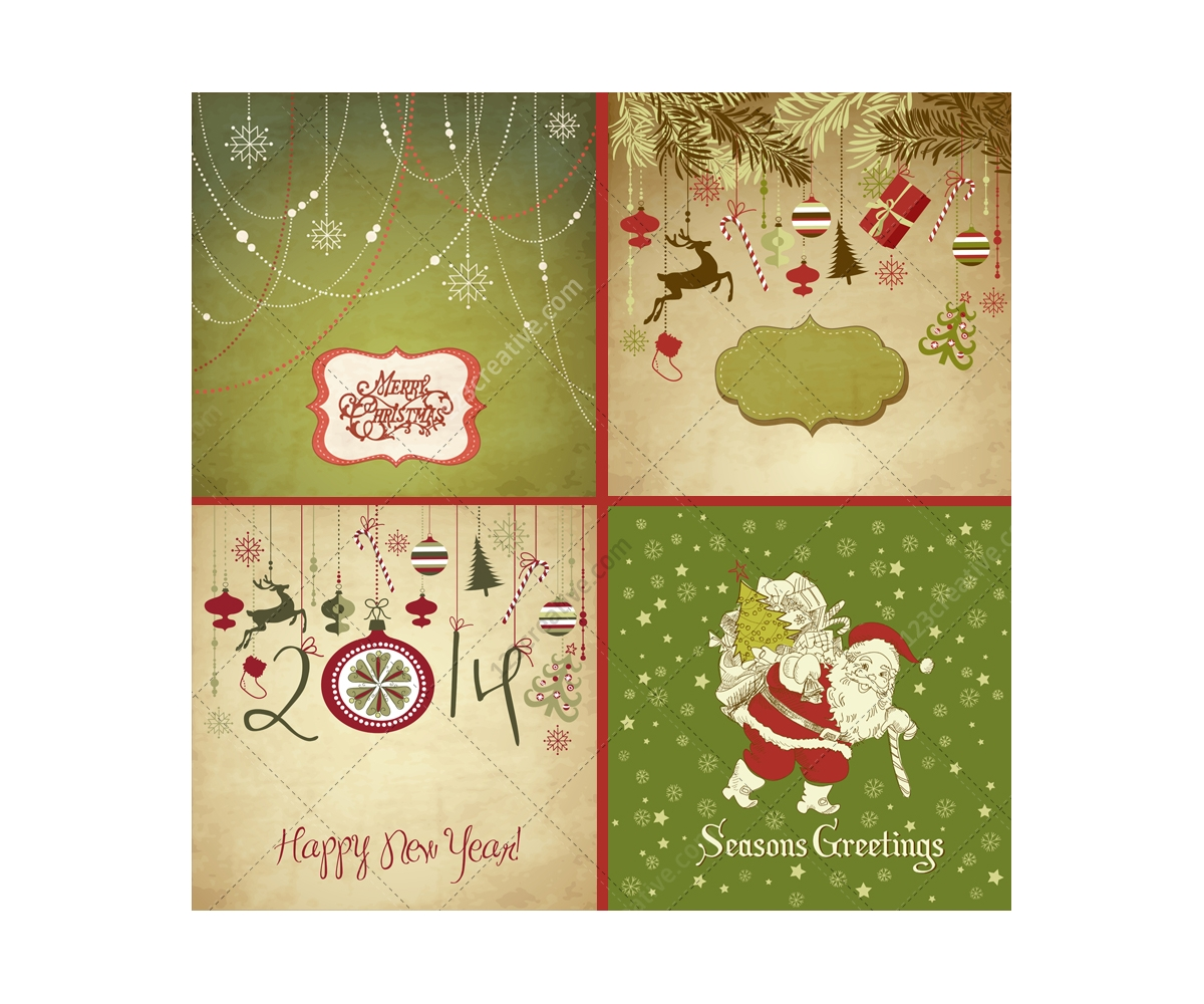 Christmas Card Vectors Various Nice Christmas Card