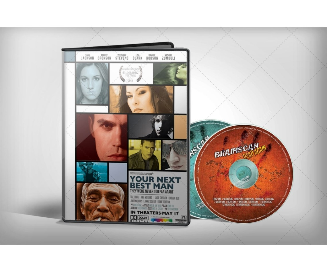 Download DVD cover Mockup with 1 and 2 discs - product preview for ...