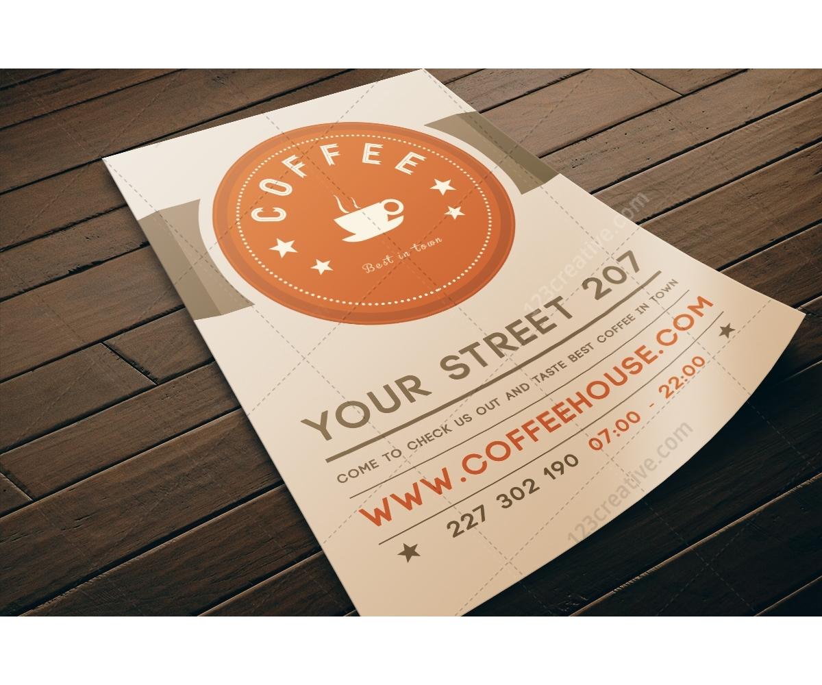 Coffee Flyer Template Psd Modern Light Design Restaurant Flyer .