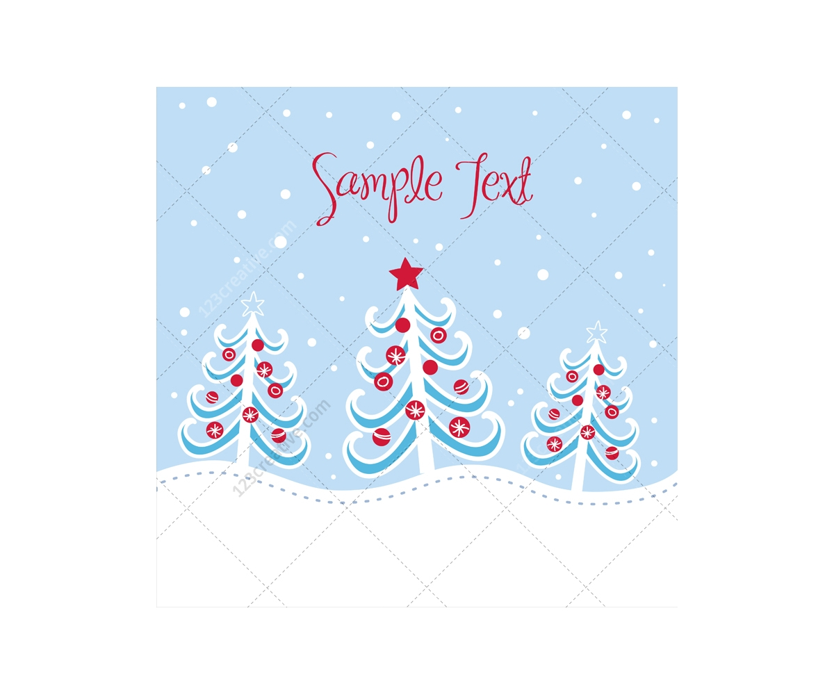 Winter And Christmas Vector Greeting Cards Beautiful