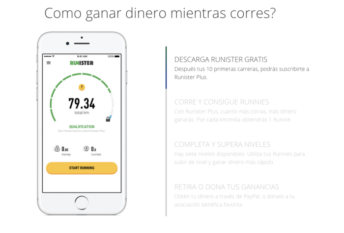 Apps que te pagan por correr