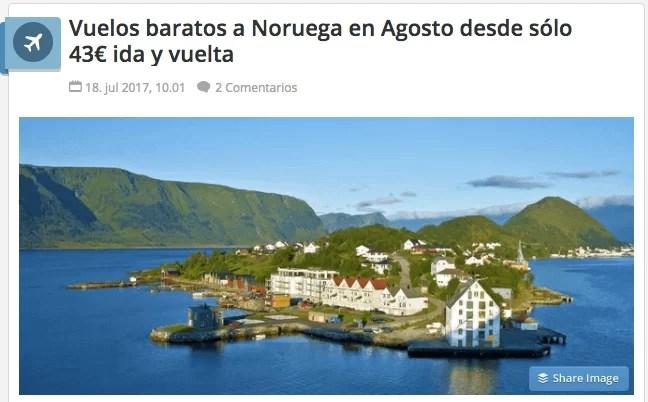 viajar barato a Noruega