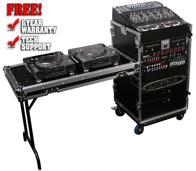 rack dj cases and racks dj mixer