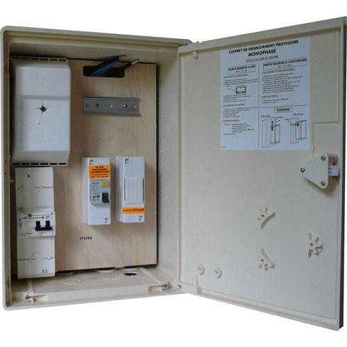Coffret Provisoire De Chantier 1ID 63A 1 Disjoncteur 15A