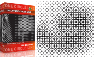 Halftone Circle Line Pack