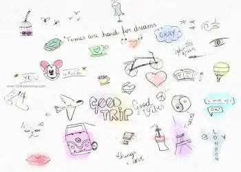 Children Notebook Drawing Doodle