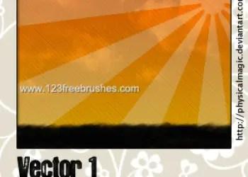 Vector Line Sunburst