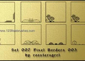 Pixel Floral Border