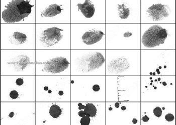 Finger Print Ink Brushes Photoshop