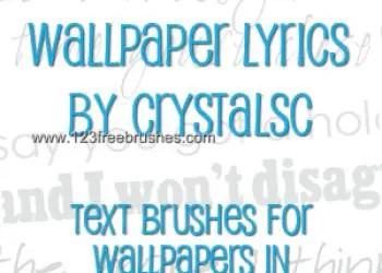 Wallpaper Lyrics