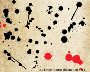 Ink Drops Vector Illustration