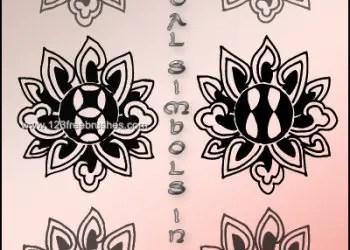 Orientals Symbols In Lotus
