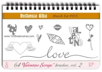 Love Valentine Scraps