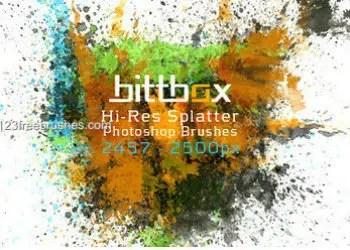 Hi-Res Ink Splatter