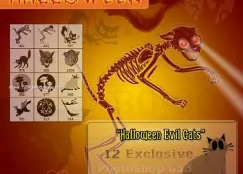 Evil Cats Halloween Stuff