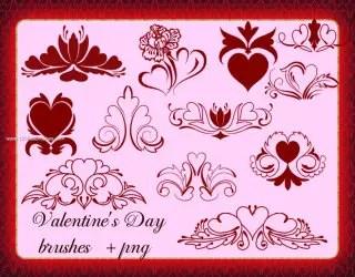 Valentines Day Flower Hearts