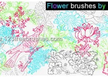Flower Brushes Photoshop 7