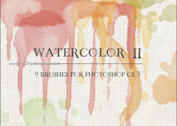 Watercolor stroke brushes photoshop
