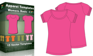 T-Shirt Templates : WomenÆs Basic 1