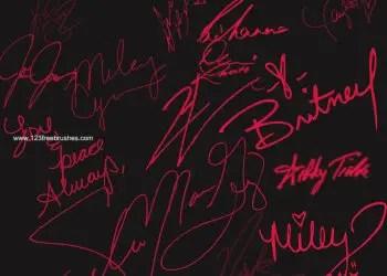Celebrities Signatures